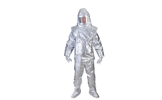 Heat insulation aluminized suit